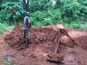 Digging a bore hole