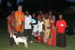 Arthur_Mike Pasrker receive goat as gift from people of Kisanga